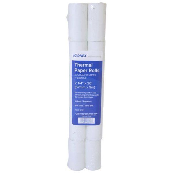 """NCR Mini Thermal Paper Rolls 2-1/4"""" X 7/8"""" (30'L)"""