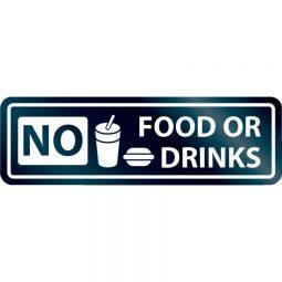 "No Food/Drink Sign 8""x2"""