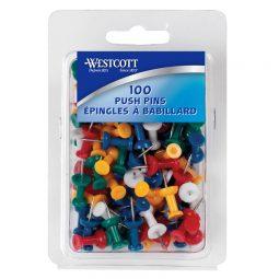 Westcott Push Pins Assorted