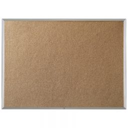 "Quartet Economy Cork Board Aluminum Frame 24"" x 36"""
