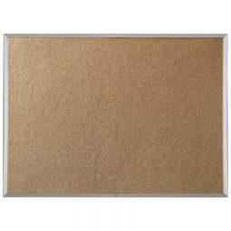 "Quartet Economy Cork Board Aluminum Frame 18"" x 24"""