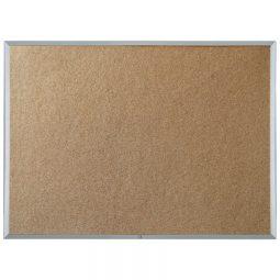 "Quartet Economy Cork Board Aluminum Frame 48"" x 72"""