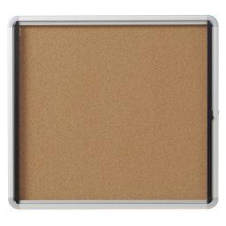 Quartet® Euro™ Frame Enclosed Cork Bulletin Board