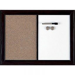 Quartet Espresso Home Décor Magnetic/Cork Combo Board 24' X 36'