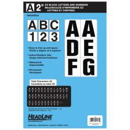 "Headline Ez Block Adhesive Letters & Numbers 2"" Black"