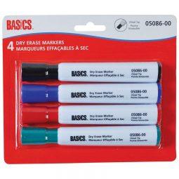 Basics Dry Erase Whiteboard Markers Chisel