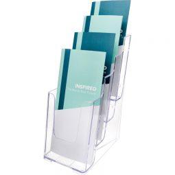Deflect-O Multi-Pocket Leaflet Holder 4 compartments