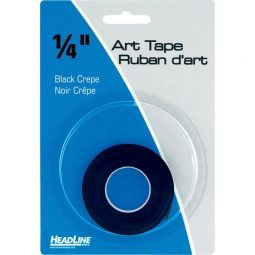 "Headline Graphic Art Tape 1/4"" X 324"" Black"