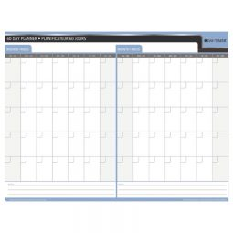 """Day-Timer Double-Sided Flexible Planner 30/60 Days 23"""" X 30"""""""