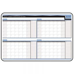 """Day-Timer Planning Board 4-Month 24"""" X 36"""" Bilingual"""