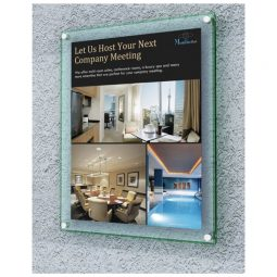 Deflect-O Superior Image Wall Mount Sign Holder With Bevelled Edge