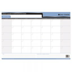 """Day-Timer Double-Sided Flexible Planner 30/60 Day 17"""" X 24"""" Bilingual"""
