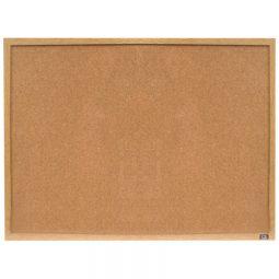 "Quarter Cork Board With Wood Frame 24"" X 36"""