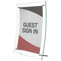 """Deflect-O Superior Image Sign Holder Curved With Tinted Edge 8-1/2"""" X 11"""""""