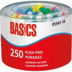 Basics Plastic Push Pins Assorted