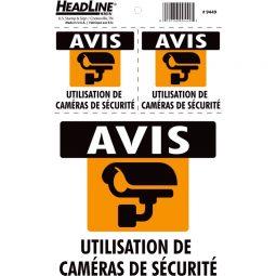 Headline® Security Camera Notice Signs