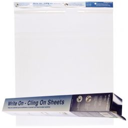 """National Xtreme White Write On/Cling On Flip chart paper Pads 27"""" X 34"""" 35 sheets"""
