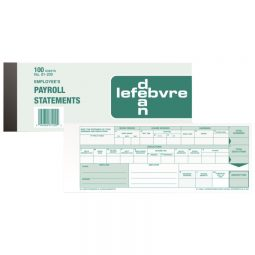 Dean Payroll Statement Pad for Ontario