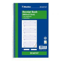 Receipt Book 200 duplicates. English