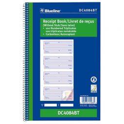 Blueline numbered Receipt Book Carbonless 3-Part 100 Sets