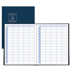 """Blueline Appointment Book 15 minutes 10-1/4"""" X 8-3/8"""" Black"""