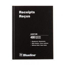 "Blueline Deluxe Receipt Book 2-Part 10-3/4 X 8-3/4"""