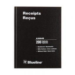 Blueline Deluxe Receipt Book 3-Part 8-1/2 X 11
