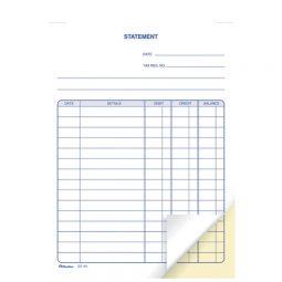 "Blueline Carbonless Statement Book 2-Part 5-3/8"" X 8"" English"