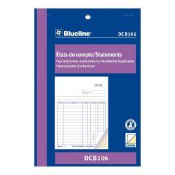 """Blueline Carbonless Statement Book 2-Part 5-3/8"""" X 8"""" Bilingual"""