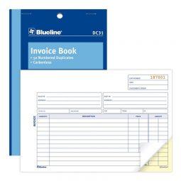 "Blueline Carbonless Invoice Book 2-Part 5-3/8"" X 8"" English"