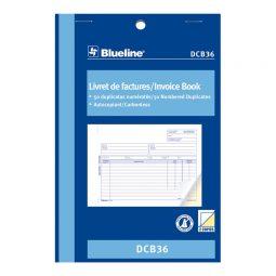 """Blueline Carbonless Invoice Book 2-Part 5-3/8"""" X 8"""" Bilingual"""