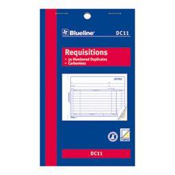"""Blueline Carbonless Requisition 2-Part 4-1/4"""" X 7"""" English"""