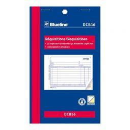 """Blueline Carbonless Requisition 2-Part 4-1/4"""" X 7"""" Bilingual"""