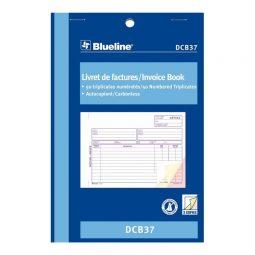 """Blueline Carbonless Invoice Book 3-Part 5-3/8"""" X 8"""" Bilingual"""