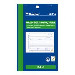 "Blueline Carbonless Delivery Receipts 2-Part 4-1/4"" X 7"" Bilingual"
