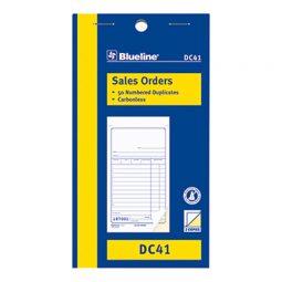 """Blueline Carbonless Sales Book 2-Part 3-1/2"""" X 6-1/2"""" English"""