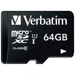 Verbatim microSDHC Cards with Adaptor 64 GB