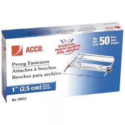 """Acco Prong Fasteners 1"""""""
