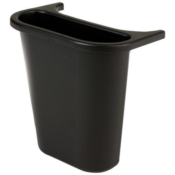 """Rubbermaid Side Bin Wastebasket 10-1/2""""W X 7-1/4"""" D X 11-1/2""""H Black"""