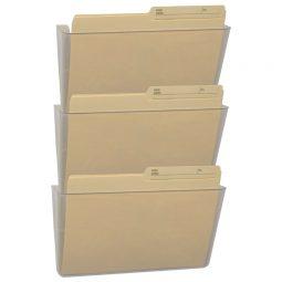 Storex Unbreakable Wall Pockets Letter Clear