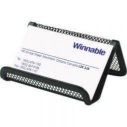 Winnable Mesh Business Card Holder Black