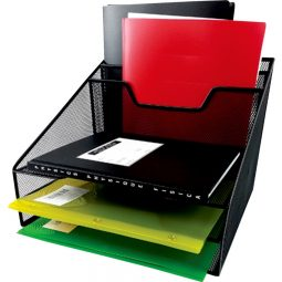 File And Tray Sorter Letter Black