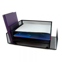 Winnable Mesh Desk Sorter Black