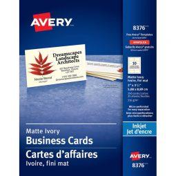 Avery Business Cards Inkjet