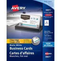Avery Inkjet Clean Edge Business Card White