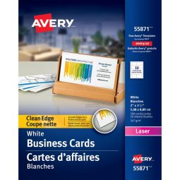 Avery Clean Edge Business Cards Two-Sided Laser