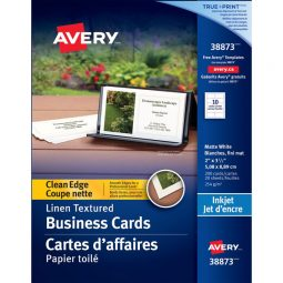 Avery Clean Edge Business Cards Two-Sided Inkjet