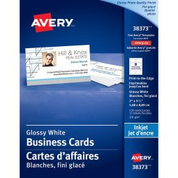 Avery Photo Quality Glossy Business Cards Inkjet White