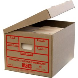 Basics® Attached-Lid Storage Boxes