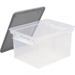 Storex Utility Tote Letter/Legal With Lid